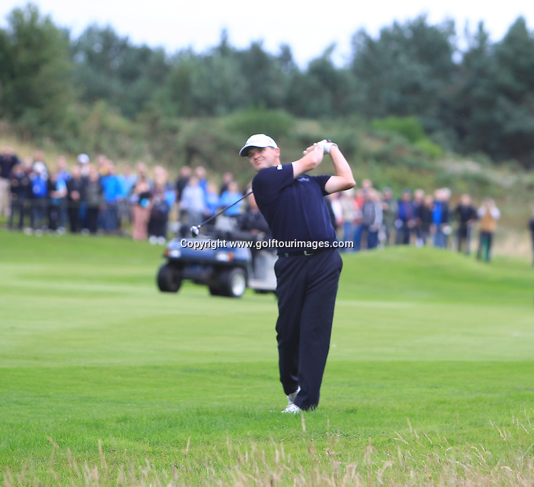 Paul Lawrie (SCO) takes a one shot lead into the final round of the 2012 Johnnie Walker Championships which are being played over the PGA Centenary Course at Gleneagles from 23rd to 26th August 2012: Picture Stuart Adams www.golftourimages.com: 25th August 2012