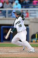 Beloit Snappers shortstop Daniel Robertson #18 during a game against the Cedar Rapids Kernels on May 23, 2013 at Pohlman Field in Beloit, Wisconsin.  Beloit defeated Cedar Rapids 5-3.  (Mike Janes/Four Seam Images)