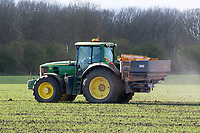 15-4-2021 Applying nitrogen to Spring wheat<br /> ©Tim Scrivener Photographer 07850 303986<br />      ....Covering Agriculture In The UK....
