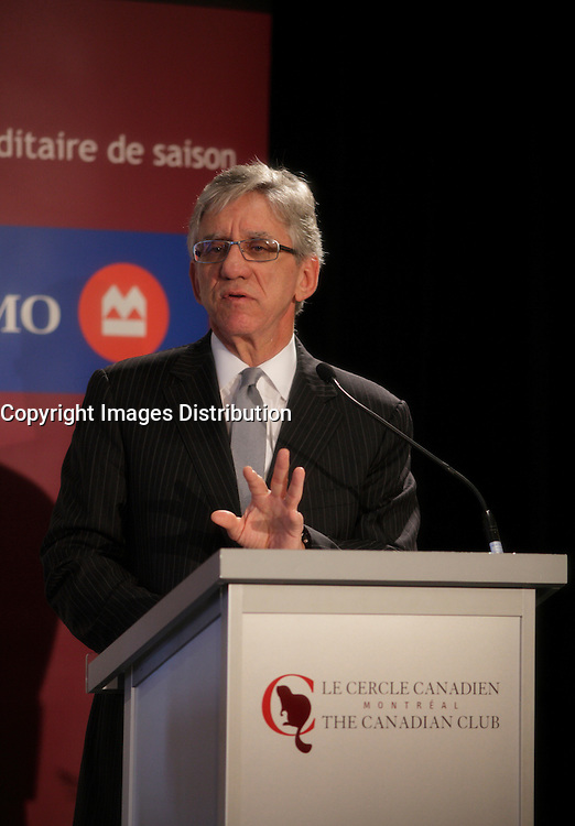 October 29 2012 - Montreal, Quebec, CANADA - Dr Hartley S. Stern, executive Director, Jewish general Hospital  speak at the Canadian Club of Montreal tribune about challenges and solutions for Quebec healthcare system