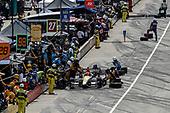 Verizon IndyCar Series<br /> Chevrolet Detroit Grand Prix Race 2<br /> Raceway at Belle Isle Park, Detroit, MI USA<br /> Sunday 4 June 2017<br /> James Hinchcliffe, Schmidt Peterson Motorsports Honda pit stop<br /> World Copyright: Michael L. Levitt<br /> LAT Images
