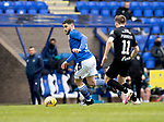 St Johnstone v Livingston…15.05.21  SPFL McDiarmid Park<br />Craig Conway and Alan Forrest<br />Picture by Graeme Hart.<br />Copyright Perthshire Picture Agency<br />Tel: 01738 623350  Mobile: 07990 594431