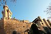 wall and tower of the Almudaina Palace<br /> <br /> muro y torre del Palacio de Almudaina <br /> <br /> Mauer und Turm des Almudaina Palastes