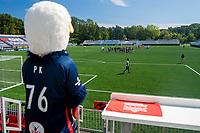 LEESBURG, VA - SEPTEMBER 5: Washington Spirit mascot, PK, looks on during a game between Sky Blue FC and Washington Spirit at Segra Field on September 5, 2020 in Leesburg, Virginia.