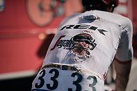 John Degenkolb (DEU/Trek-Segafredo) returning to the teambus after having crashed in the bunch sprint<br /> <br /> 104th Tour de France 2017<br /> Stage 4 - Mondorf-les-Bains › Vittel (203km)