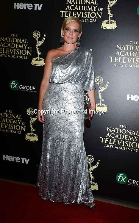 Maura West attends the 41st Annual Daytime Emmy Awards on June 22, 2014 at the Beverly Hilton Hotel in Beverly Hills,California.<br /> <br /> photo by Robin Platzer/ Twin Images<br /> <br /> 212-935-0770