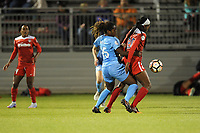 Boyds, MD - Saturday May 6, 2017: Kayla Mills, Cheyna Williams during a regular season National Women's Soccer League (NWSL) match between the Washington Spirit and Sky Blue FC at Maureen Hendricks Field, Maryland SoccerPlex.