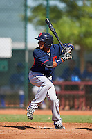 Cleveland Indians Elvis Perez (23) during an Instructional League game against the Kansas City Royals on October 11, 2016 at the Cleveland Indians Player Development Complex in Goodyear, Arizona.  (Mike Janes/Four Seam Images)