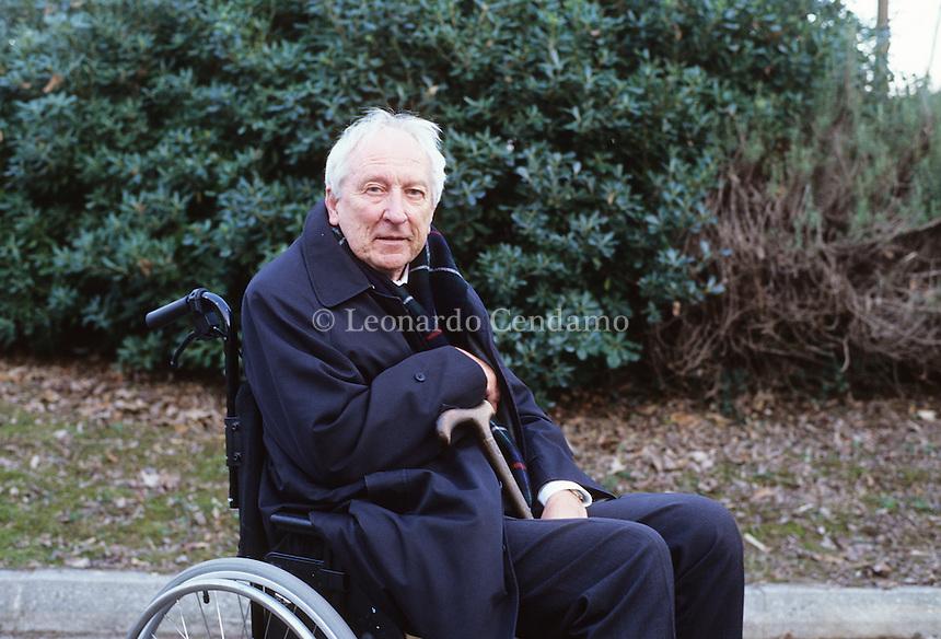 Tomas Transtromer, born in Stockholm the 15 april 1931. Is writer and poet. Percoto, Udine 2004.  © Leonardo Cendamo