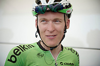 Robert Gesink (NLD) a happy man in a happy team post-race<br /> <br /> Tour de France 2013<br /> stage 13: Tours to Saint-Amand-Montrond, 173km