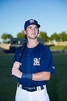 AZL Brewers Nick Egnatuk (24) poses for a photo before a game against the AZL Cubs on August 24, 2017 at Maryvale Baseball Park in Phoenix, Arizona. AZL Cubs defeated the AZL Brewers 9-1. (Zachary Lucy/Four Seam Images)