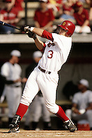 Eric Munson of the USC Trojans during a NCAA baseball game at Dedeaux Field circa 1999 in Los Angeles, California. (Larry Goren/Four Seam Images)