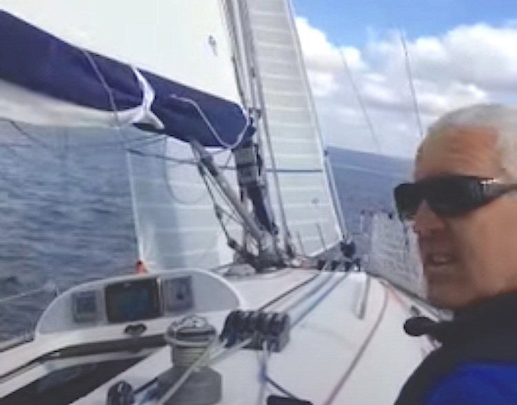 North Sails Ireland's Maurice O'Connell onboard the
