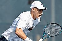 SAN ANTONIO, TX - FEBRUARY 2, 2018: The University of Texas at San Antonio Roadrunners fall to the University of Louisiana-Lafayette Ragin' Cajuns 4-3 at the UTSA Tennis Center. (Photo by Jeff Huehn)