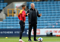 Nigel Pearson manager of Bristol City giving instructions to Nahki Wells of Bristol City during Millwall vs Bristol City, Sky Bet EFL Championship Football at The Den on 1st May 2021