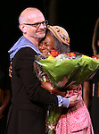 """Director Michael Wilson and Cicely Tyson during """"The Trip To Bountiful"""" Final Performance Curtain Call & Celebration at The Stephen Sondheim Theatre on October 9, 2013 in New York City."""