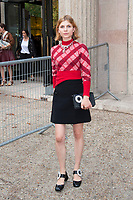 October 3 2017, PARIS FRANCE the Miu Miu<br /> Show at the Paris Fashion Week Spring Summer 2017/2018. Actress Clemence Poesy leaves the show.