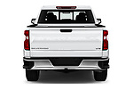 Straight rear view of a 2019 Chevrolet Silverado 1500 LTZ 4 Door Pick Up stock images