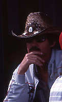 Richard Petty in the garage before the Southern 500 at Darlington Raceway in Darlington SC on September 1, 1985. (Photo by Brian Cleary/www.bcpix.com)