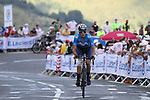 Marc Soler (ESP) Movistar Team summits the Col de Peyresourde during Stage 8 of Tour de France 2020, running 141km from Cazeres-sur-Garonne to Loudenvielle, France. 5th September 2020. <br /> Picture: Colin Flockton | Cyclefile<br /> All photos usage must carry mandatory copyright credit (© Cyclefile | Colin Flockton)