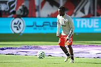 WASHINGTON, DC - MARCH 07: Mohammed Abu #25 of D.C. United during pre game warmups during a game between Inter Miami CF and D.C. United at Audi Field on March 07, 2020 in Washington, DC.