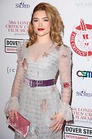 Florence Pugh<br /> arriving for the Critic's Circle Film Awards 2018, Mayfair Hotel, London<br /> <br /> <br /> ©Ash Knotek  D3374  28/01/2018
