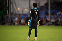 LAKE BUENA VISTA, FL - JULY 25: Pedro Gallese #1 of Orlando City SC waits for the ball during a game between Montreal Impact and Orlando City SC at ESPN Wide World of Sports on July 25, 2020 in Lake Buena Vista, Florida.