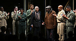 """Douglas Turner Ward, Charles Fuller and David Alan Grier with cast During the Broadway Opening Night Curtain Call Bows for The Roundabout Theatre Company's """"A Soldier's Play""""  at the American Airlines Theatre on January 21, 2020 in New York City."""