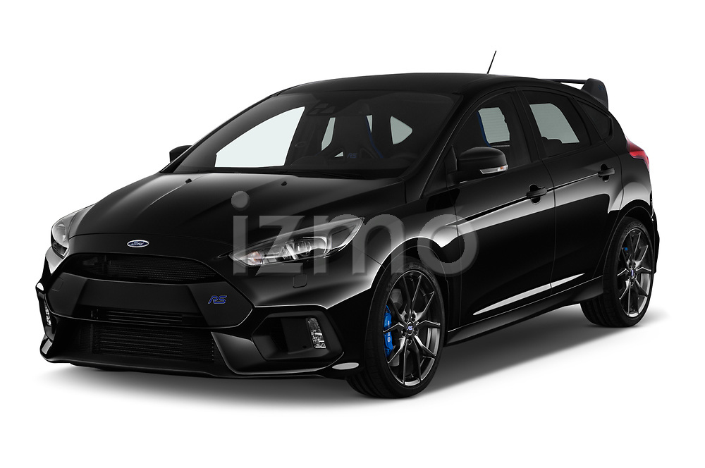 2017 Ford Focus RS Limited 5 Door Hatchback angular front stock photos of front three quarter view