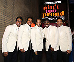 """Ephraim Sykes, Jeremy Pope, Derrick Baskin, Jawan M. Jackson, and James Harkness  starring in """"Ain't Too Proud: The Life And Times Of The Temptations"""" after their first Broadway preview performance at The Imperial Theatre on February 28, 2019 in New York City."""