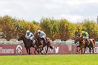 4th October 2020, Longchamp Racecourse, Paris, France; Qatar Prix de l Arc de Triomphe;  Tiger Tanaka ridden by Jessica Marcialis wins the Prix Marcel Boussac