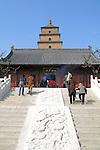 Giant Wild Goose Pagoda - Buddhist pagoda in Xian, China. c 652 AD,