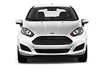Car photography straight front view of a 2017 Ford Fiesta SE 4 Door Sedan Front View