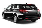 Car pictures of rear three quarter view of 2015 Hyundai I40 Premium 5 Door Wagon Angular Rear