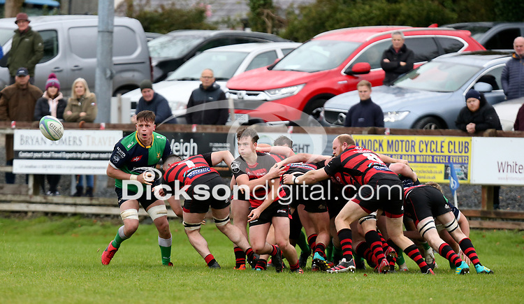 Saturday 3rd October 2020 | Hinch vs Armagh<br /> <br /> Armagh get the ball away during their Ulster Senior League clash against Armagh at Ballymacarn Park, Ballynahinch, County Down, Northern Ireland. Photo by John Dickson / Dicksondigital