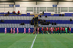 Coventry United 3 Highgate United 5, 17/10/2017. Butts Park Arena, Birmingham Senior Cup. Players shaking hands before kick off.  Photo by Paul Thompson.
