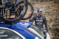 Tim Declercq (BEL/Deceuninck - Quick Step) ready to go down by teamcar at the finish<br /> <br /> Stage 20: Arenas de San Pedro to Plataforma de Gredos (190km)<br /> La Vuelta 2019<br /> <br /> ©kramon