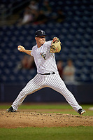 Staten Island Yankees pitcher Bryan Blanton (11) during a NY-Penn League game against the Aberdeen Ironbirds on August 22, 2019 at Richmond County Bank Ballpark in Staten Island, New York.  Aberdeen defeated Staten Island 4-1 in a rain shortened game.  (Mike Janes/Four Seam Images)