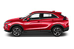 Car Driver side profile view of a 2021 Mitsubishi Eclipse-Cross-PHEV Intense-Edition 5 Door SUV Side View