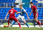 St Johnstone v Aberdeen…01.07.17  McDiarmid Park     Pre-Season Friendly <br />David Wotherspoon is closed down by Graeme Shinnie and Greg Tansey<br />Picture by Graeme Hart.<br />Copyright Perthshire Picture Agency<br />Tel: 01738 623350  Mobile: 07990 594431