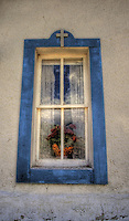 Old Mission Church window - New Mexico