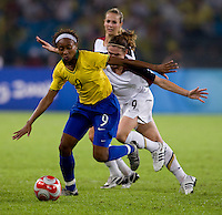 Ester, Heather O'Reilly. The USWNT defeated Brazil, 1-0, to win the gold medal during the 2008 Beijing Olympics at Workers' Stadium in Beijing, China.