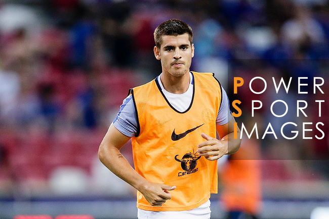 Chelsea Forward Alvaro Morata Warming up during the International Champions Cup 2017 match between FC Internazionale and Chelsea FC on July 29, 2017 in Singapore. Photo by Marcio Rodrigo Machado / Power Sport Images