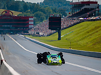 Jun 16, 2018; Bristol, TN, USA; NHRA funny car driver Jonnie Lindberg during qualifying for the Thunder Valley Nationals at Bristol Dragway. Mandatory Credit: Mark J. Rebilas-USA TODAY Sports