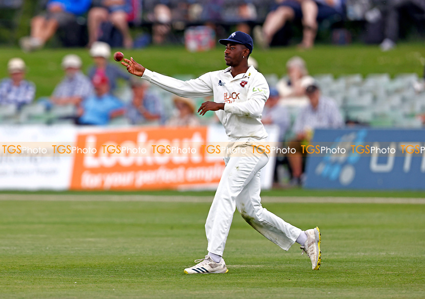 Tawanda Muyeye in the field for Kent during Kent CCC vs Northamptonshire CCC, LV Insurance County Championship Group 3 Cricket at The Spitfire Ground on 6th June 2021