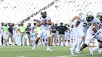 CHAPEL HILL, NC - NOVEMBER 14: Sam Hartman #10 of Wake Forest looks for a receiver during an ultimately successful two point conversion during a game between Wake Forest and North Carolina at Kenan Memorial Stadium on November 14, 2020 in Chapel Hill, North Carolina.