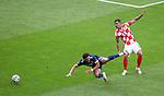 22.06.2021 Croatia v Scotland: Che Adams fouled by Dejan Lovren