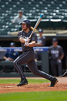 Coleman Poje (16) of the Georgia Tech Yellow Jackets follows through on his swing against the Miami Hurricanes during game one of the 2017 ACC Baseball Championship at Louisville Slugger Field on May 23, 2017 in Louisville, Kentucky. The Hurricanes walked-off the Yellow Jackets 6-5 in 13 innings. (Brian Westerholt/Four Seam Images)