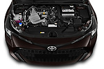 Car stock 2019 Toyota Corolla Dynamic 5 Door Hatchback engine high angle detail view