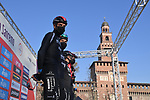 Bahrain Victorious at sign on before the start of the 112th edition of Milan-San Remo 2021, running 299km from Milan to San Remo, Italy. 20th March 2021. <br /> Photo: LaPresse/Gian Mattia D'Alberto   Cyclefile<br /> <br /> All photos usage must carry mandatory copyright credit (© Cyclefile   LaPresse/Gian Mattia D'Alberto)